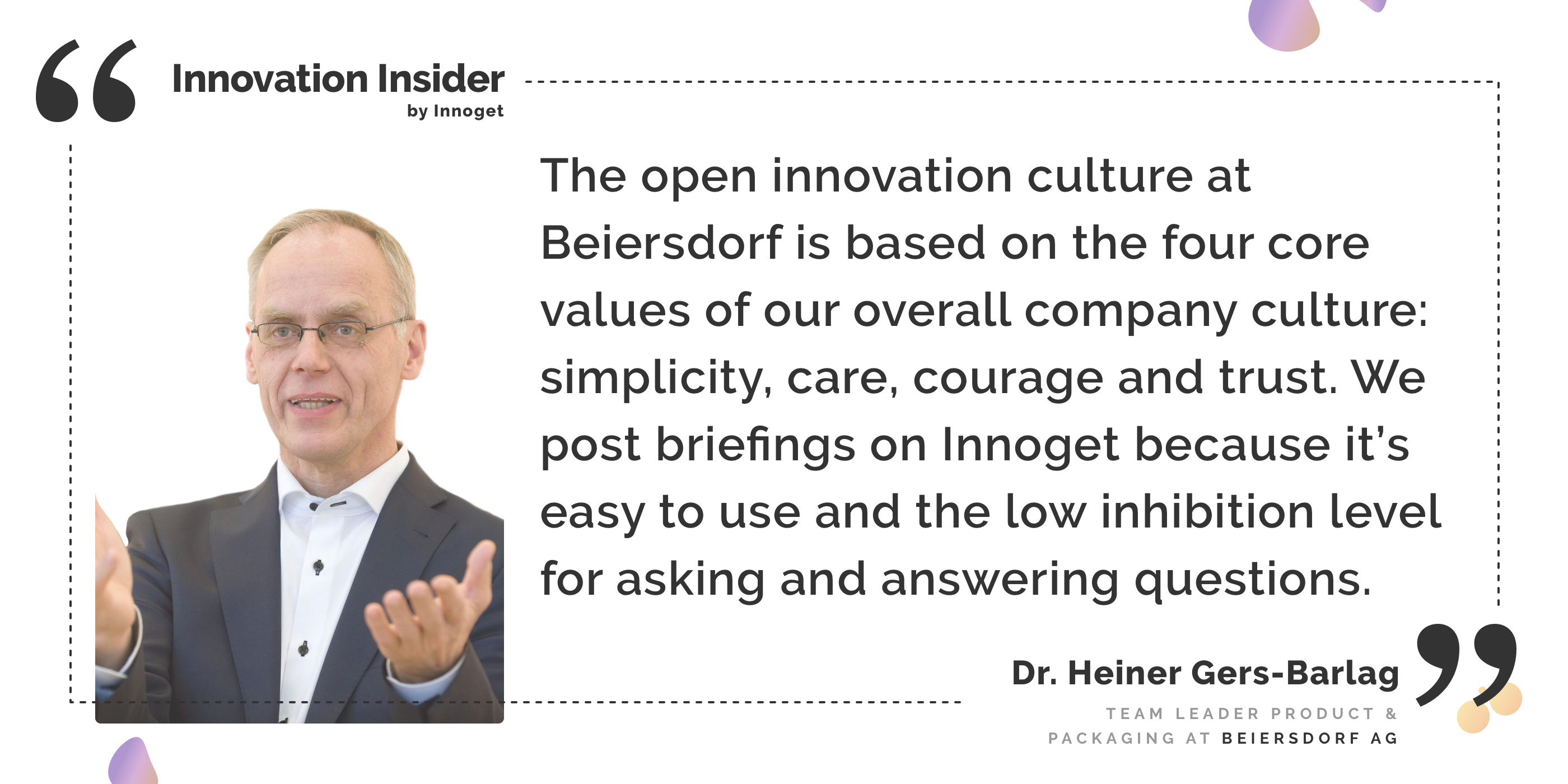 Innovation Insider: Talking with Dr. Heiner Gers-Barlag, Team Leader Product & Packaging Scouting at Beiersdorf AG